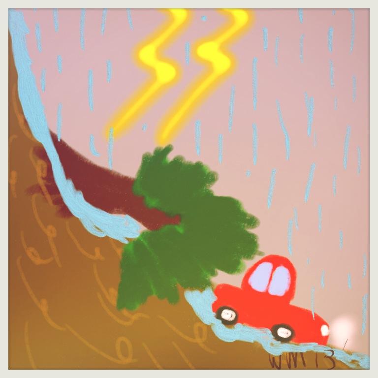 D: Black Rainstorm Warning