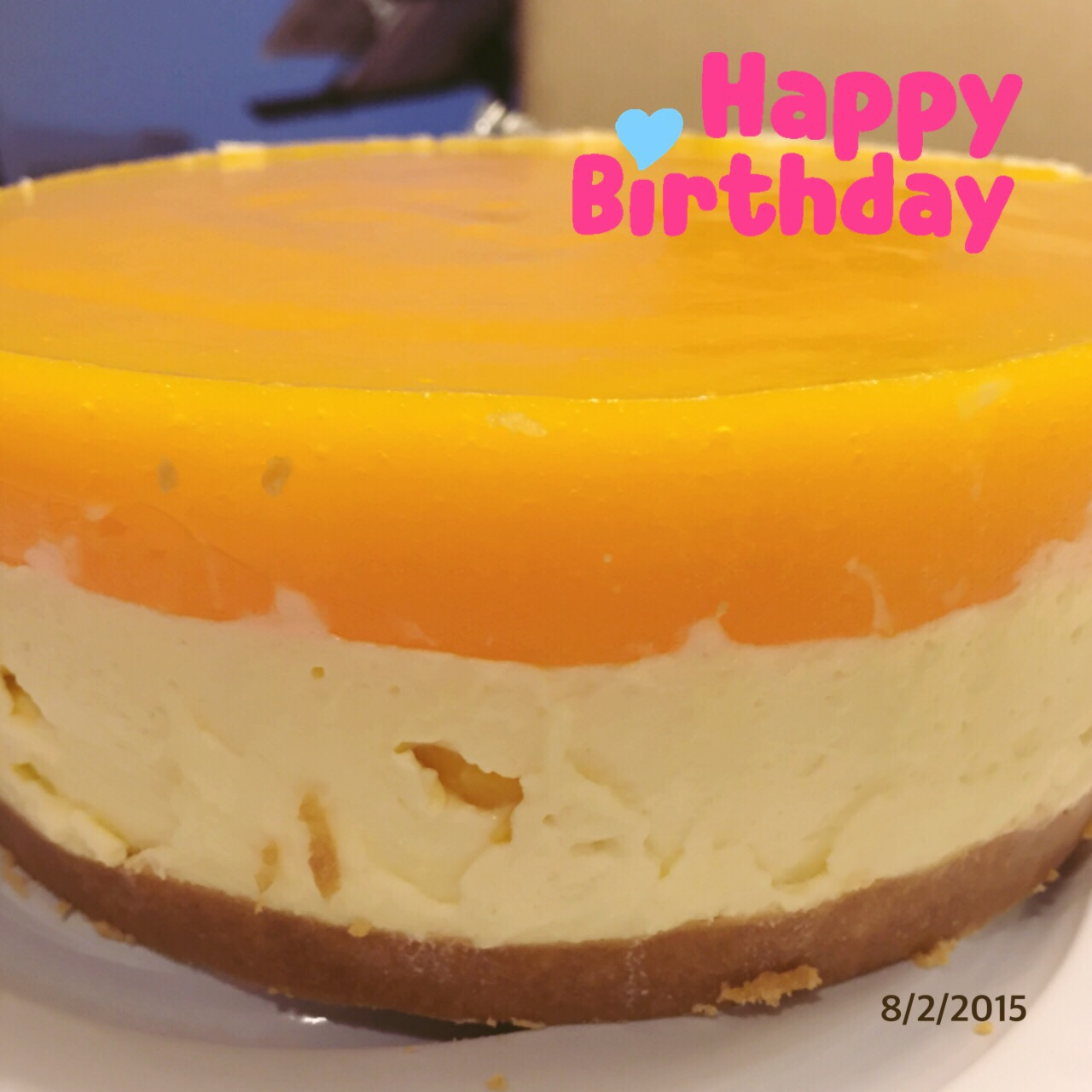 C: Mango Cheesecake with Jelly Top