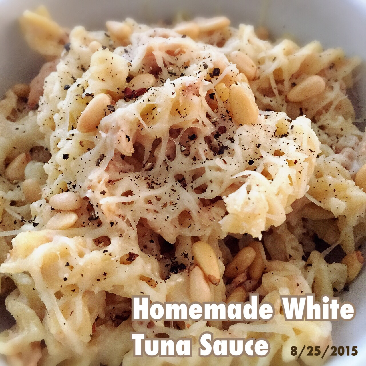 C: Easy (No Added Cream) White Tuna Pasta Sauce